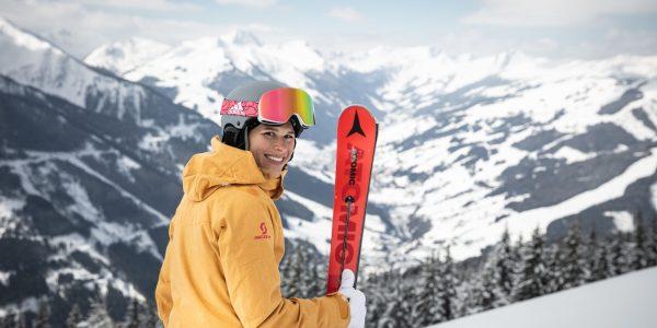 Skifahren im home of laessig