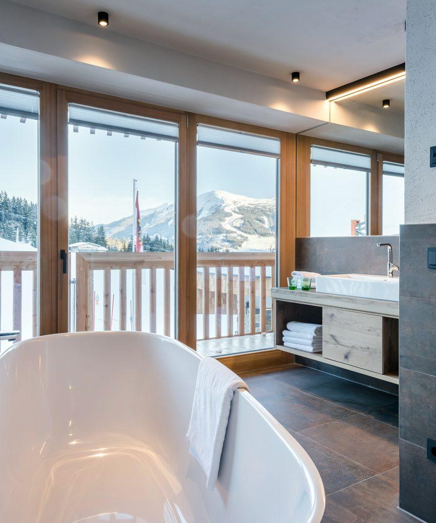 Badezimmer im Appartement in Saalbach-Hinterglemm